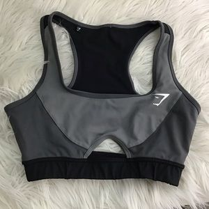 Gym shark Sports Bra Blk Grey XS